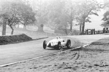 Auto Union D Type 1938 Donington GP Muller At the Hairpin